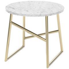 Algedi Side Table, Metallic