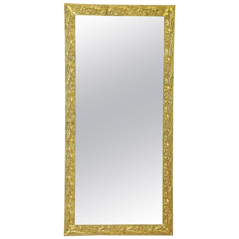 Golden Art Nouveau Mirror, Austria circa 1910