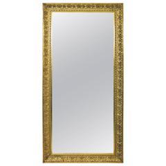 Elegant Large Golden Mirror, Austria, circa 1900