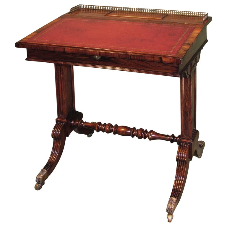 Regency Period Rosewood Writing Desk