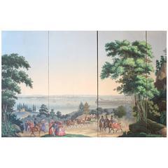 New York Bay, Papiers Peints, Four Panels, Zuber Wallpaper