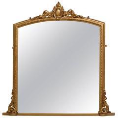 Victorian Giltwood Wall Mirror, Gilt Mirror