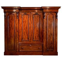 Victorian Mahogany Four-Door Wardrobe