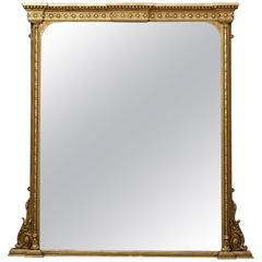 Large English Giltwood Mirror
