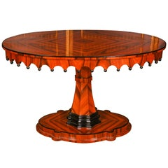 20th Century Biedermeier Style Oval Table