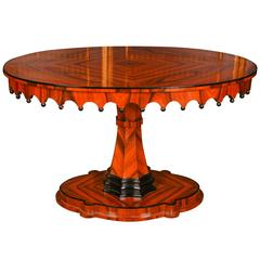 20th Century Biedermeier Style Oval Table