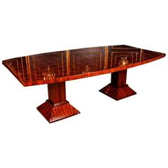 20th Century Art Deco Style Rosewood Conference Dining Table