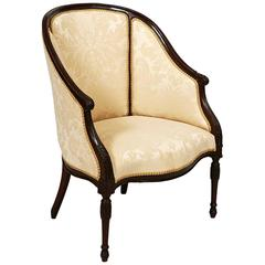 19th Century George III Mahogany Hepplewhite Tub Chair