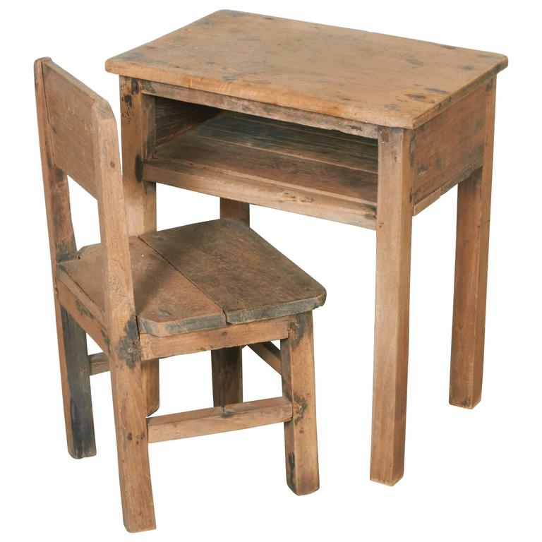 Enjoyable Vintage Childs School Desk And Chair Andrewgaddart Wooden Chair Designs For Living Room Andrewgaddartcom