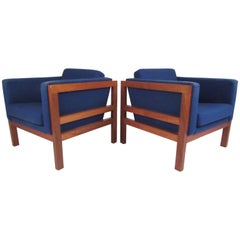 Pair of Scandinavian Modern Club Chairs by Otto Larsen for Ottsøborg Mobler