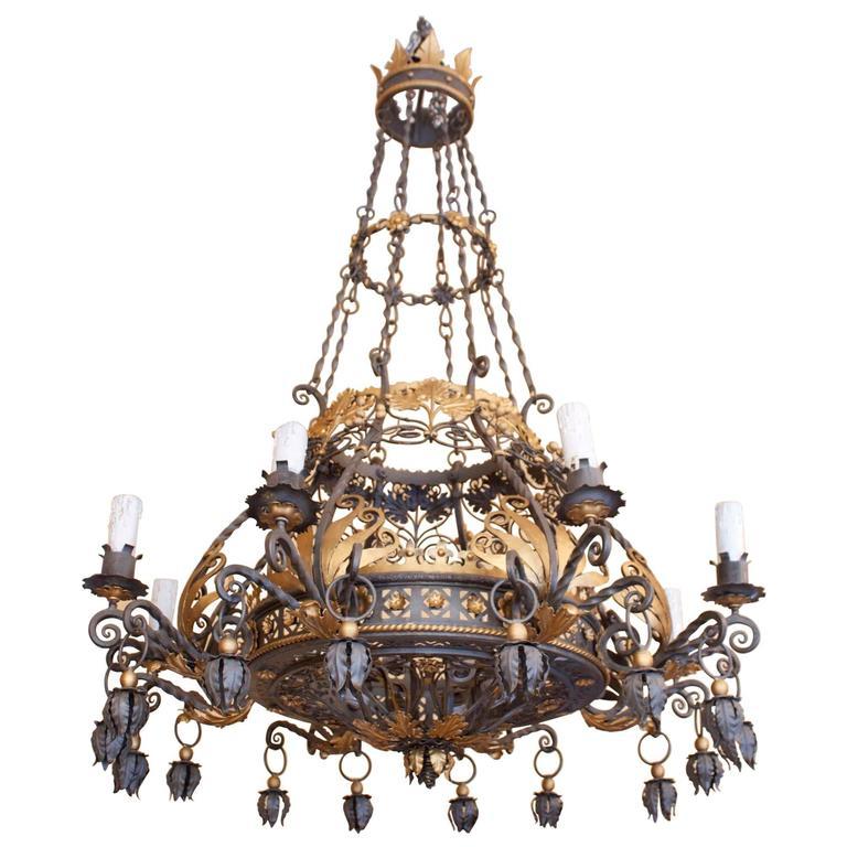 Large beautiful and decorative iron chandelier eight arms for sale large beautiful and decorative iron chandelier eight arms for sale aloadofball Choice Image