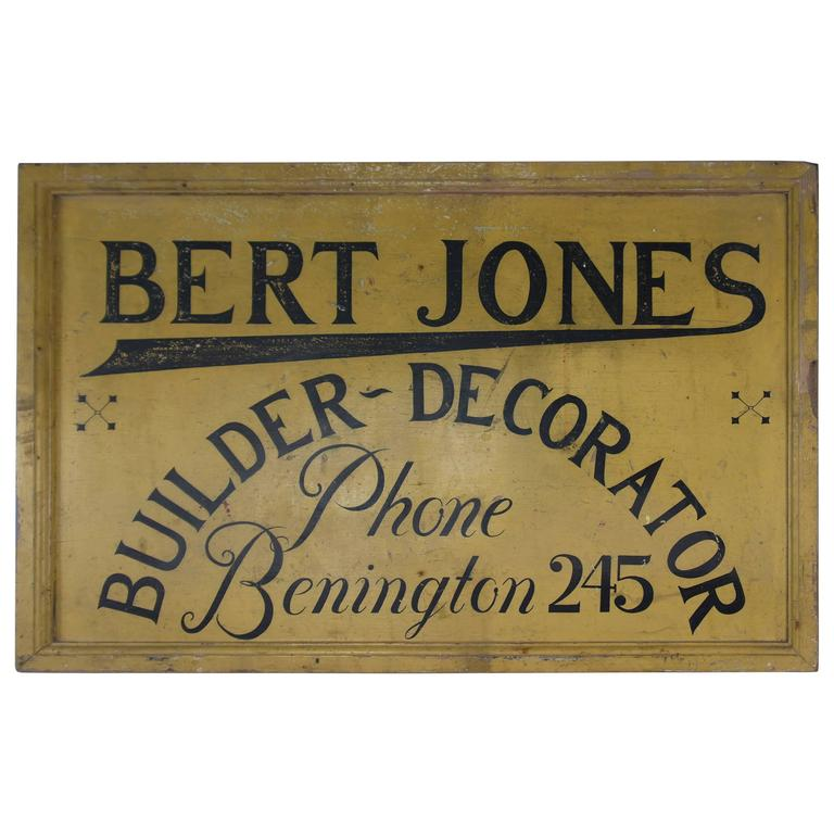 Vintage Wooden Advertising Sign