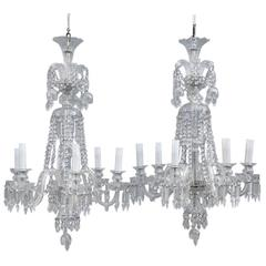 Mid-Century Bohemia Pair of Chandelier Crystal Very Elegant