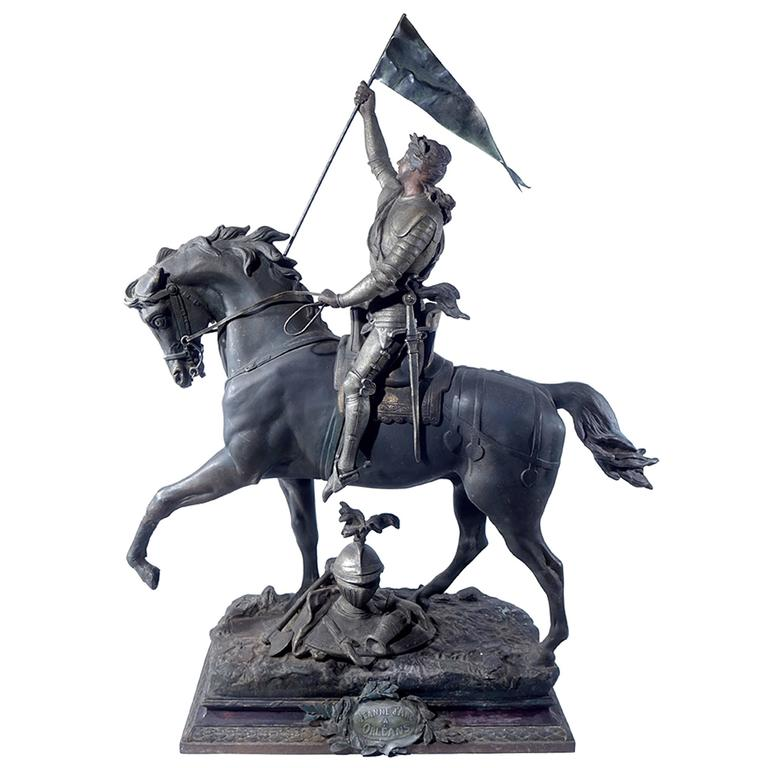 1800s French Joan of Arc Sculpture 1