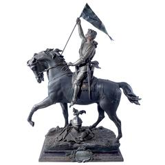 1800s French Joan of Arc Sculpture