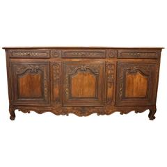 19th Century Country French Buffet or Sideboard