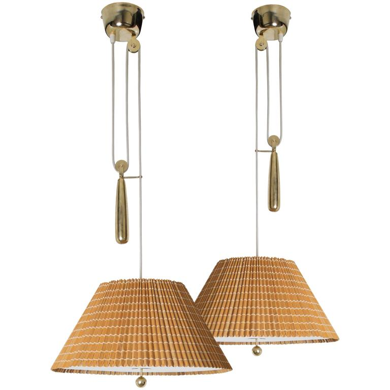 Paavo Tynell Counter Balance Lights, Model 1968, Taito Oy, 1940s
