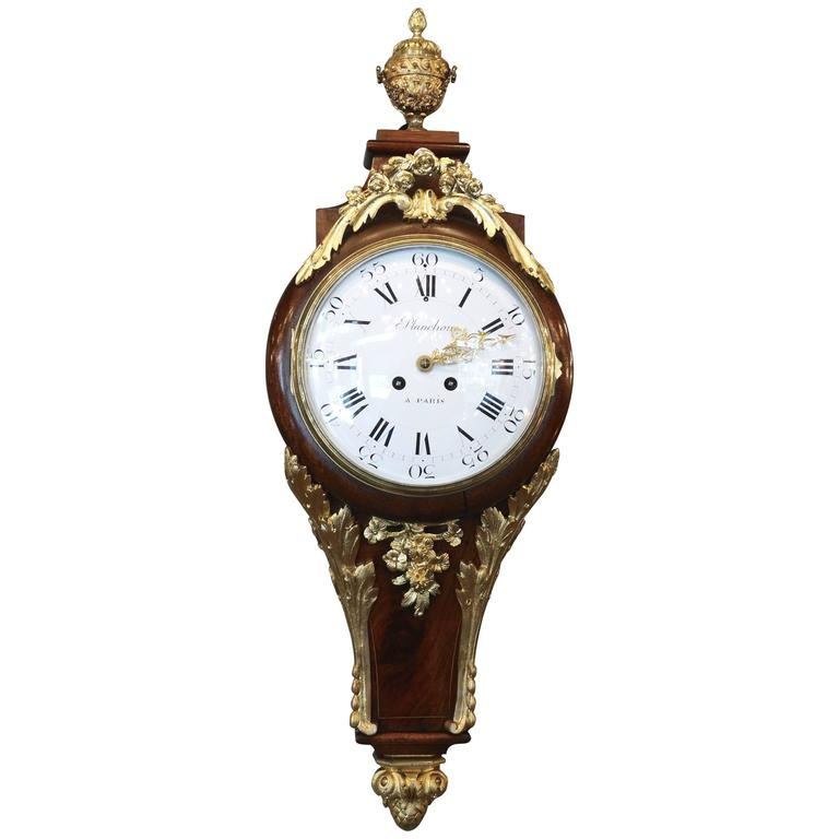 Superb 19th Century French Wall Clock in Louis XV St. For Sale