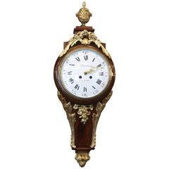 Superb 19th Century French Wall Clock in Louis XV St.