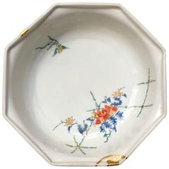 Japanese 17th Century Edo Period Kakiemon Octagonal Bowl with Kintsugi Repairs