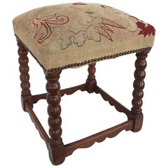 19th Century Turned Wood Stool