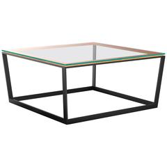 Frame Coffee Table, Small Square, Clear Glass