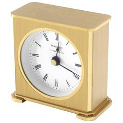Vintage Brass Case Tiffany Desk Clock
