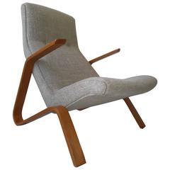 Original Eero Saarinen 1950 Knoll Bentwood Grasshopper Chair