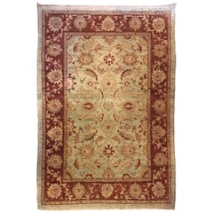 Finely Knotted Coffee or Foyar Oriental Carpet