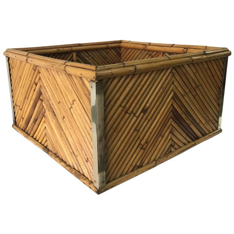 """Signed and Documented Gabriella Crespi """"Rising Sun"""" Collection Planter Box For Sale"""
