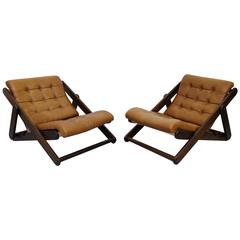 Large Swedish Lounge Chairs by Gillis Lundgren, 1970s