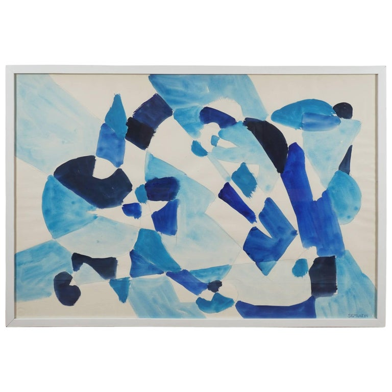 Untitled 'Abstract in Blue' For Sale