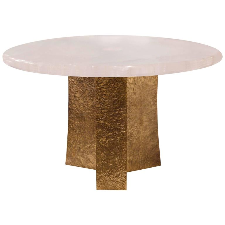 Rock Crystal Quartz Round Cocktail Table For Sale At 1stdibs