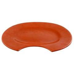 Bjorn Wiinblad 'Figaro' Very Large Shaving-Dish or Wall Plaque in Orange