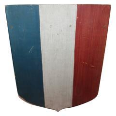 19th Century Original Painted Patriotic Sheid