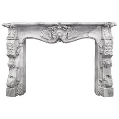 Rocco Marble Fireplace Mantel