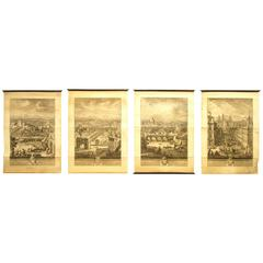 "Set of Four ""Grand View"" Etchings of Rome by Giuseppe Vasi, 1770s"