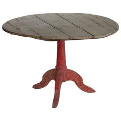Antique French Farmhouse Tripod Table