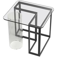 Nunki Side Table, Clear Top