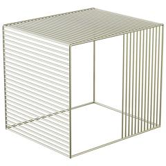 Wire Side Table, Plated Steel
