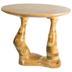 Form #1 hand carved wood sculptural table , ambrosia maple