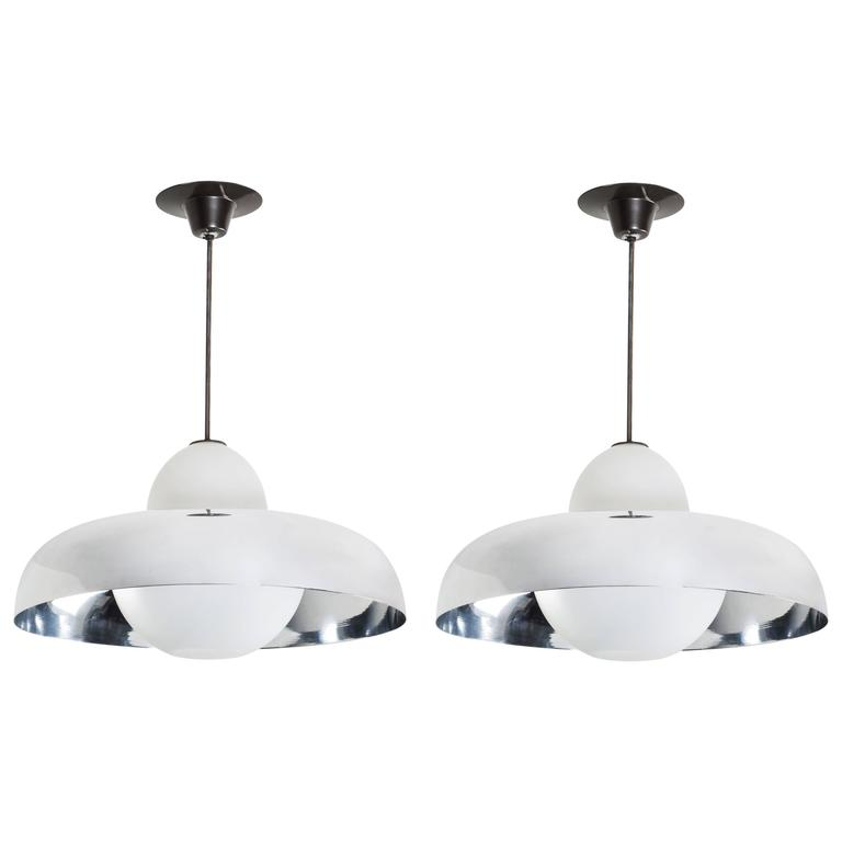Two Chandeliers by Ignazio Gardella for Azucena