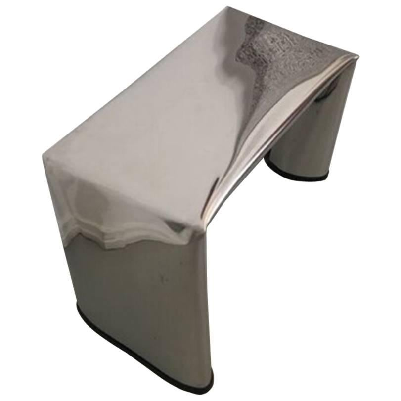 Contemporary Steel Bench by Soft Baroque
