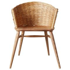 Handwoven Willow Ash Chair by Gareth Neal