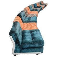 Large Sofa with 13 Armchairs B&B Italy Mario Bellini Amanta