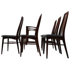 Mid-Century Set of Six Rosewood Dining Chairs by Niels Koefoed