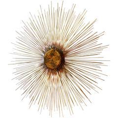 Brutalist Modernist Abstract 3D Sunburst Sculpture after Curtis Jere