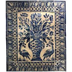 """Portuguese 18th Century Tile Panel """"Albarrada"""""""