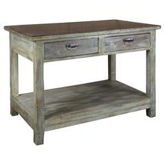 Green Table with Iron Lid