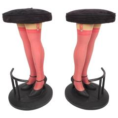 "Unique Contemporary Modern ""Legs"" Bar Stools"